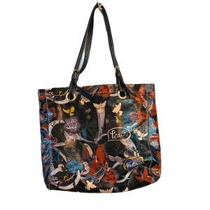 Sacroots Peace Print Large Tote Shoulder Bag